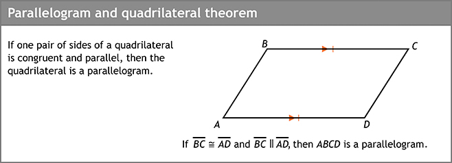 Parallelogram and quadrilateral theorem
