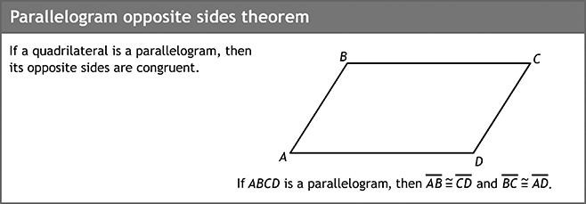Parallelogram opposite sides theorem
