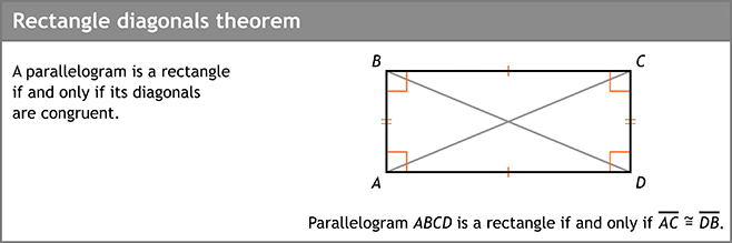 Rectangle diagonals theorem