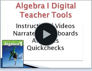 Screen shot of digital presentation tools