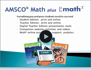 Algebra 1, Geometry, Algebra 2, iPad featuring MathX—iPad and Chromebook compatible
